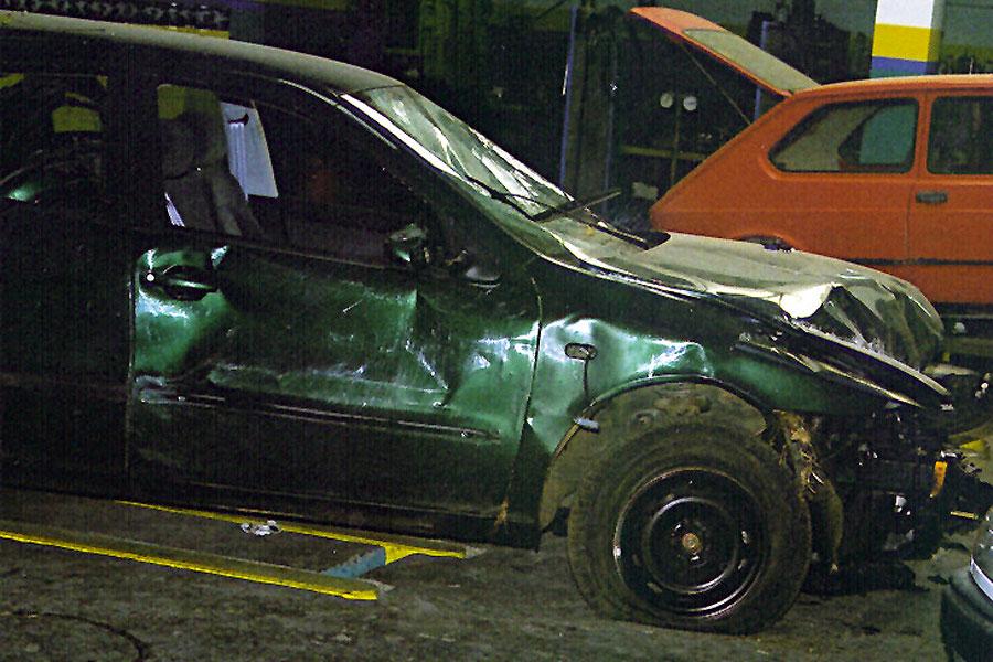 Por increíble que parezca, el airbag no 'saltó'.