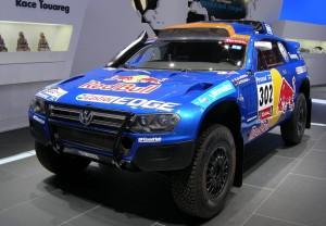 Ya en el Salón, pudimos ver el Touareg ganador del Dakar, que Volkswagen exhibía con orgullo.