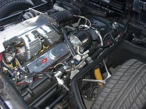 Detalle de un motor de combustión