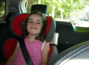 Desde el puesto del conductor, nuestra pequeña protagonista no parecía muy convencida, aunque contaba con espacio suficiente.