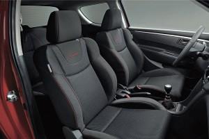 Interior del nuevo Suzuki Swift Sport