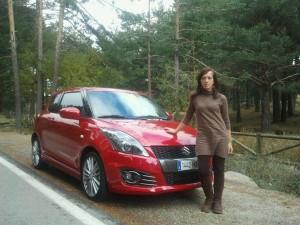 Isabel Gª Casado y el Suzuki Swift Sport 2011