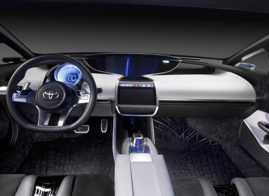 El interior del NS4 Concept de Toyota nos deja bien claro que estamos ante un concept car.