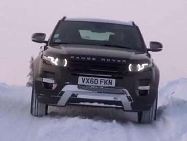El Range Rover Evoque, sobre nieve
