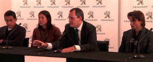 Presentación del Peugeot Tenis Team