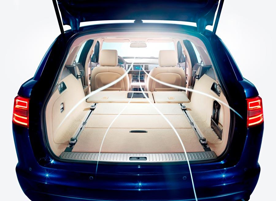 La capacidad del maletero del Jaguar XF Sportbreak con los asientos abatidos es de 1.675 litros.