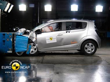 Chevrolet Aveo EuroNCAP Crash Test