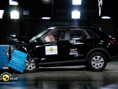 Audi Q3, Crash Test de EuroNCAP