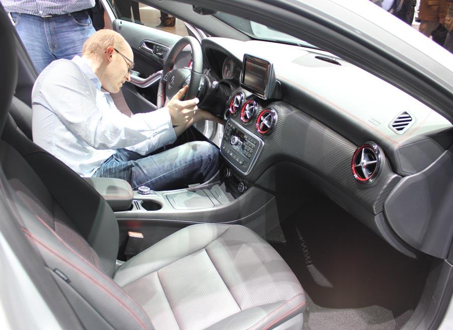 Interior del nuevo Mercedes Clase A.