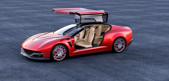 Giugiaro Brivido, el concept híbrido con plataforma VW, en Ginebra