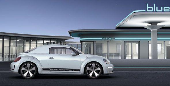 Volkswagen E-Bugster: el Beetle se destapa y electrifica