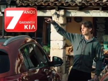 Rafa Nadal, en el anuncio del nuevo Kia Sportage
