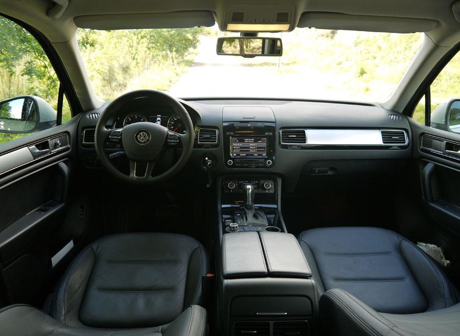 VW Touareg V6 TDi 204 CV, tablero de a bordo, Rubén Fidalgo