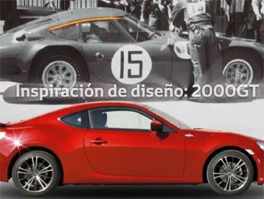 La inspiración del diseño del Toyota GT 86 en vídeo