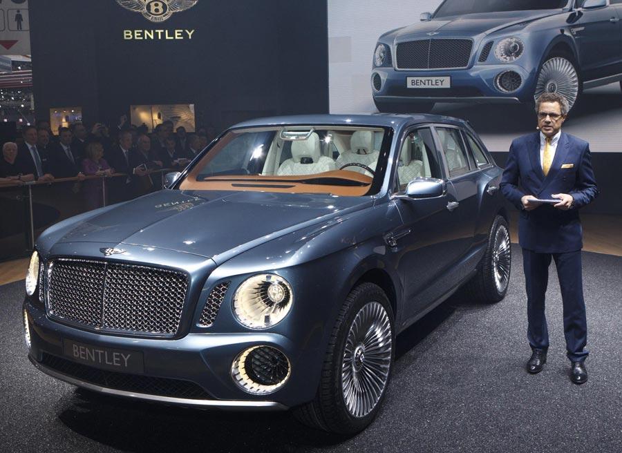 Bentley mostrará el concept de su todoterreno por primera vez en el Reino Unido.
