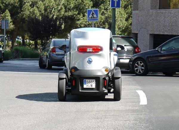 Renault Twizy, trasera