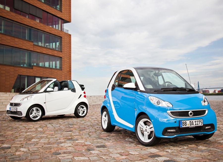El Smart Fortwo Edition Iceshine está disponible tanto en versión coupé como cabrio.