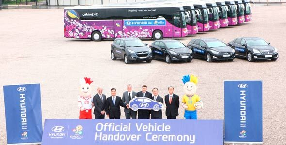 Los coches de la Eurocopa 2012