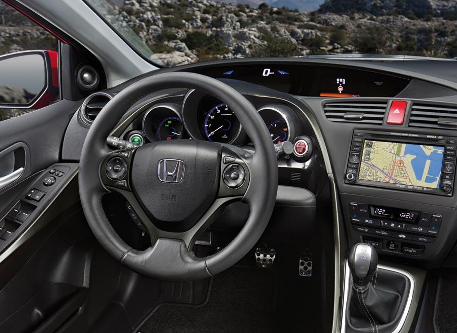Interior del nuevo Honda Civic.