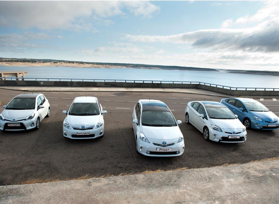 La gama híbrida de Toyota, al completo.