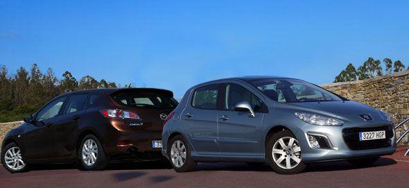 Comparativa: Mazda 3 Mirai vs. Peugeot 308 e-HDI
