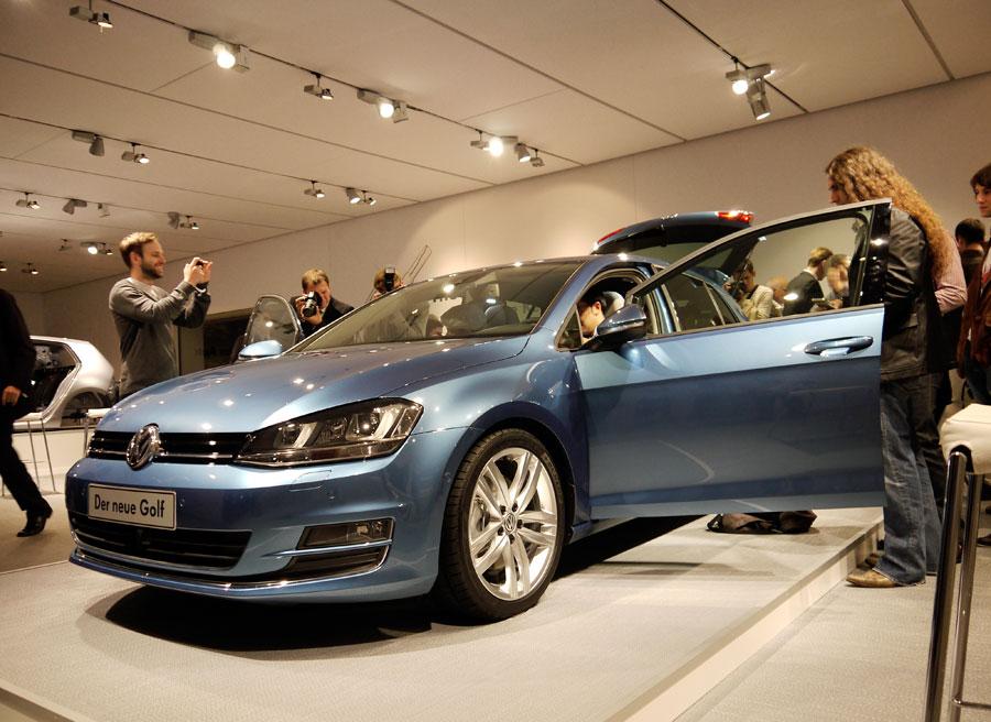 Premiere mundial VW Golf VII, Rubén Fidalgo, Berlín.