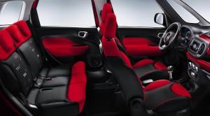 Fiat 500 L, asientos