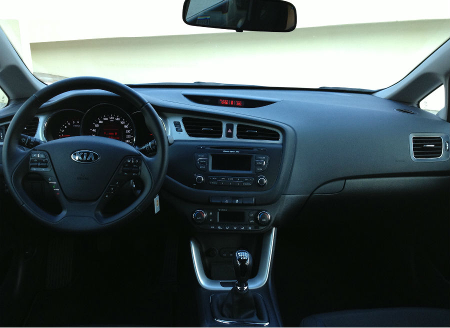 Los materiales del interior del Kia Cee'd sorprenden por su calidad.
