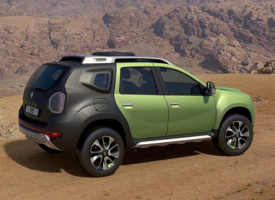 La decoración del Renault DCross Concept, mezclando verde fluorescente con negro mate, es muy llamativa.