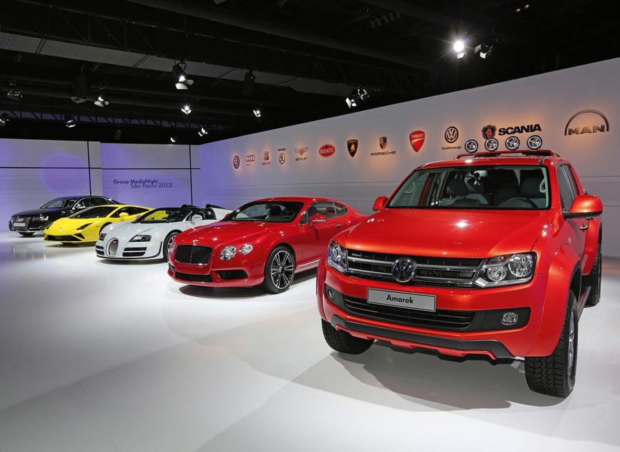 El grupo Volkswagen ha llevado lo mejor de su repertorio al Salón de Brasil.