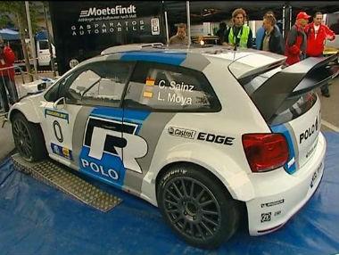 Carlos Sainz estrena el nuevo Volkswagen Polo WRC