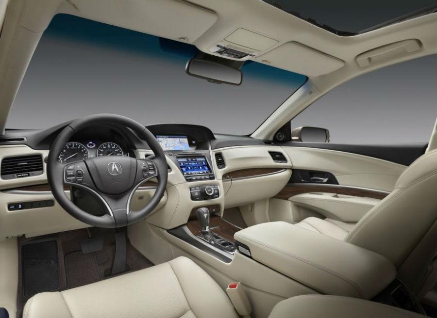 Interior del nuevo Acura RLX.