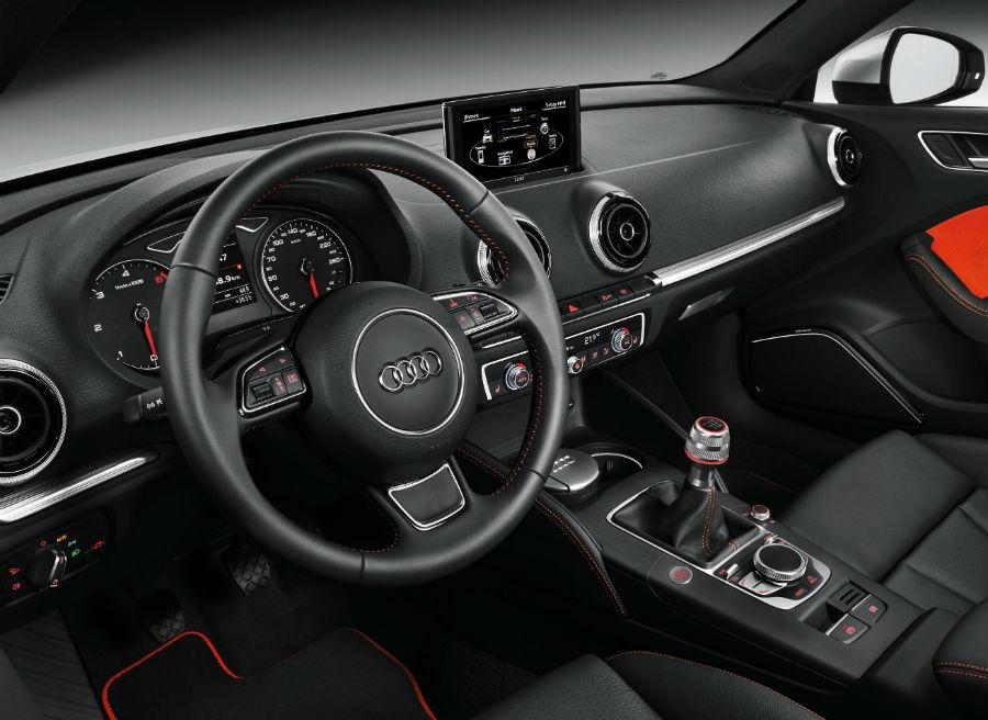 El interior del Audi A3 Sportback es muy similar al de la versión de tres puertas.