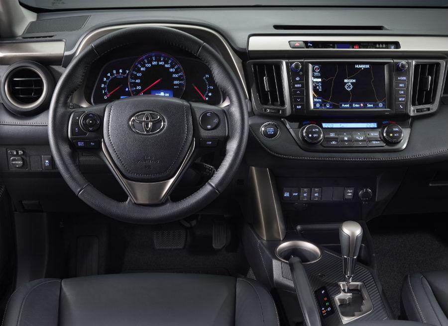 Interior del nuevo Toyota RAV4.