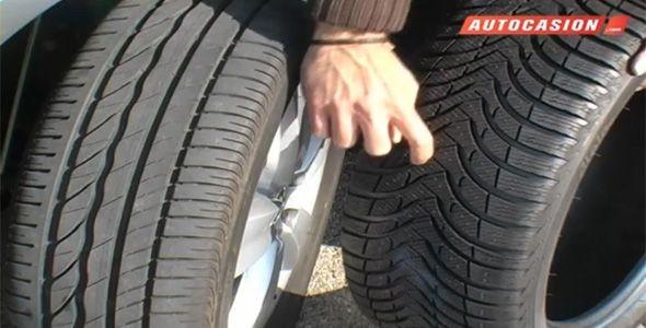 Los neumáticos de invierno frenan mucho antes en nieve y en mojado