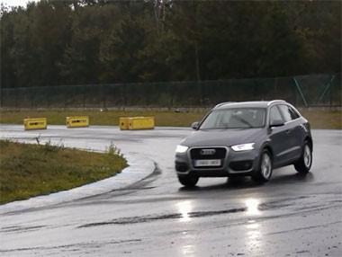 Vídeo del Audi Q3 2.0 TDi 2WD en el circuito