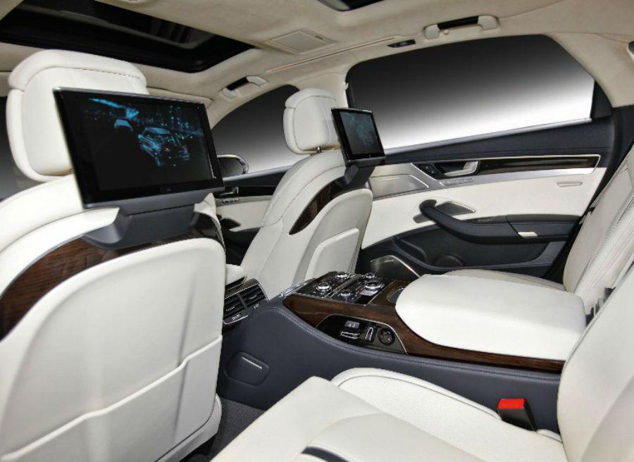 El interior del Audi A8 L contará con todo lujo de detalles.