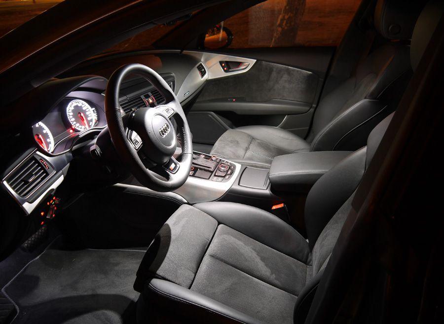 Prueba Audi A7 TDi Biturbo, iluminación, Rubén Fidalgo
