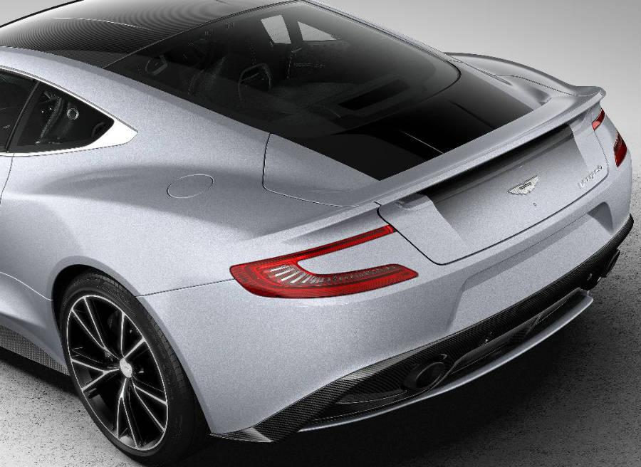 Detalle de la zaga del nuevo Aston Martin Vanquish Centenary Edition.