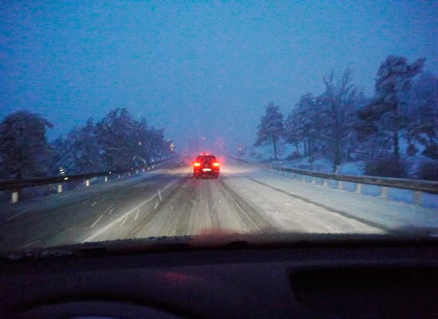 Como conducir con nieve, distancia segura, Rubén Fidalgo