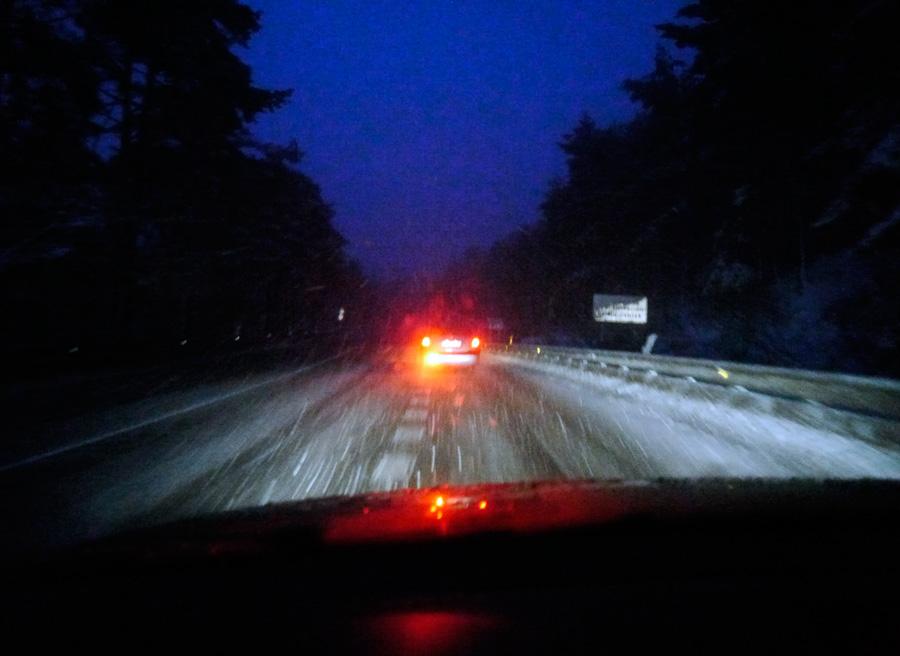 Cómo conducir con nieve, luz de niebla, Rubén Fidalgo