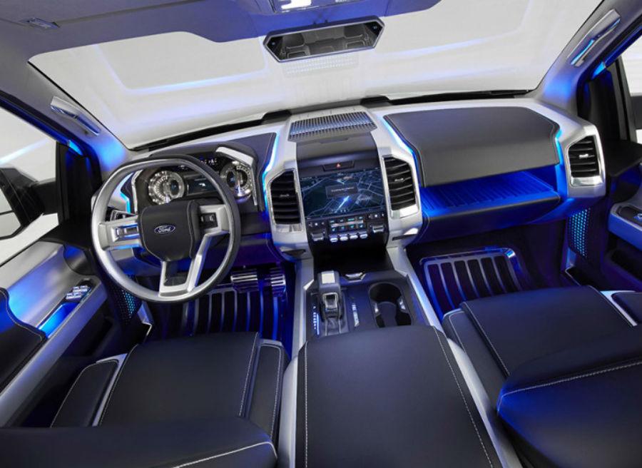 Así es el interior del nuevo Ford Atlas Concept.