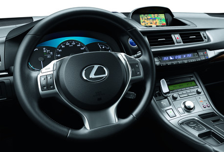 Interior del Lexus CT200h.