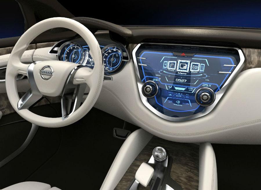 Interior del Nissan Resonance: futurista, como buen concept que es.