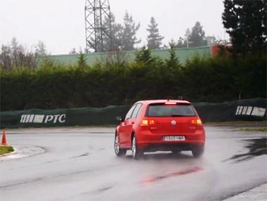 La prueba en el circuito del VW Golf VII 2.0 TDI, en vídeo