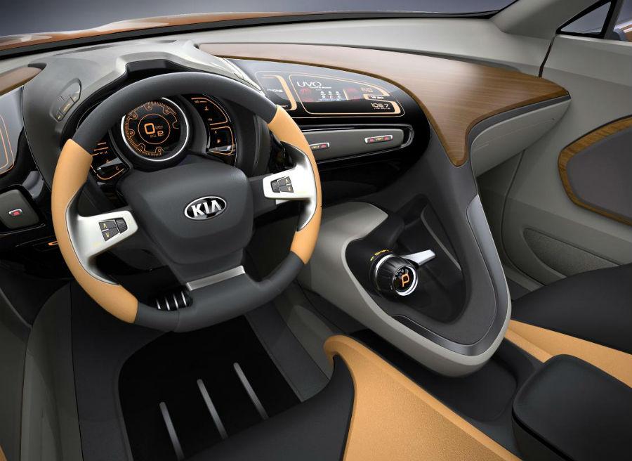 El interior del Kia Cross GT Concept tiene tintes muy futuristas.