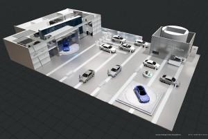 Stand de Lexus en el Salón del Automóvil de Ginebra