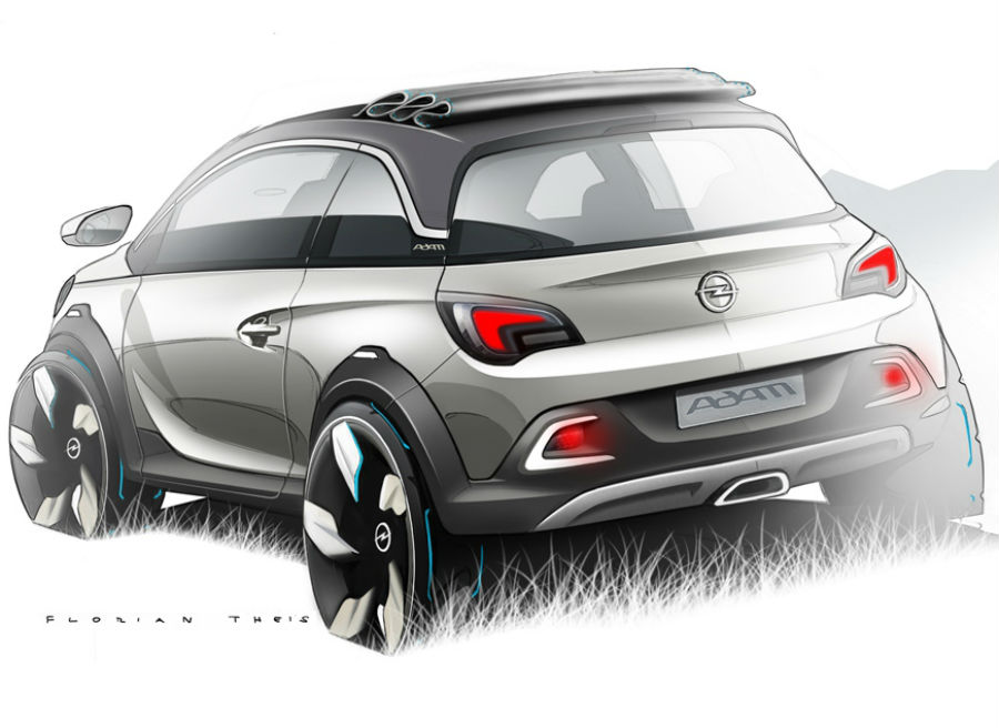 El Opel Adam Rocks es ligeramente más alto que el modelo convencional.