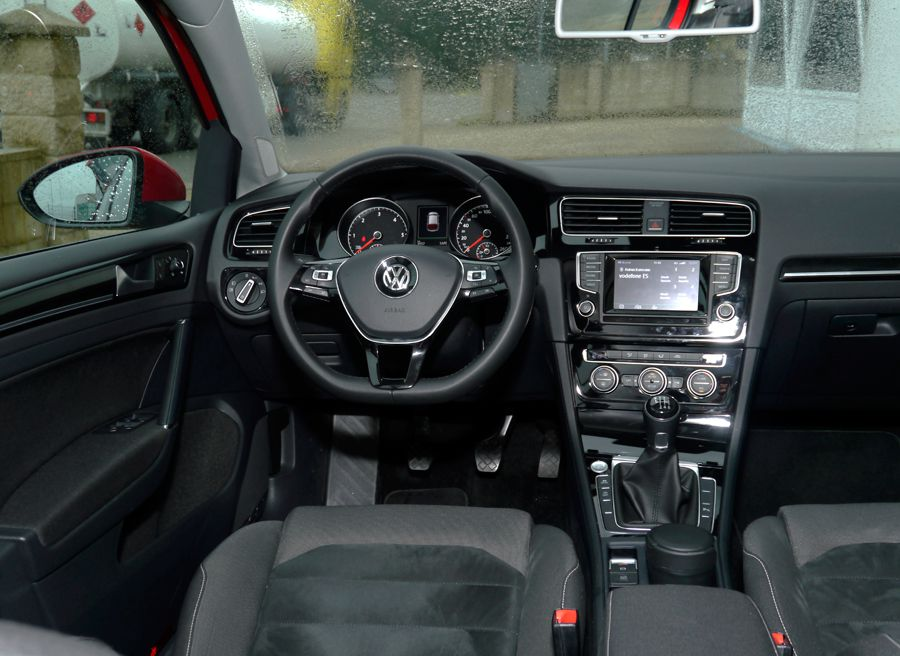 Prueba VW Golf VII 2.0 TDi 150 CV, Interior Golf VII, Rubén Fidalgo