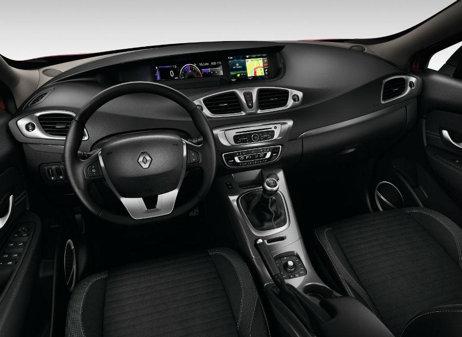 Interior del Renault Scenic XMOD.